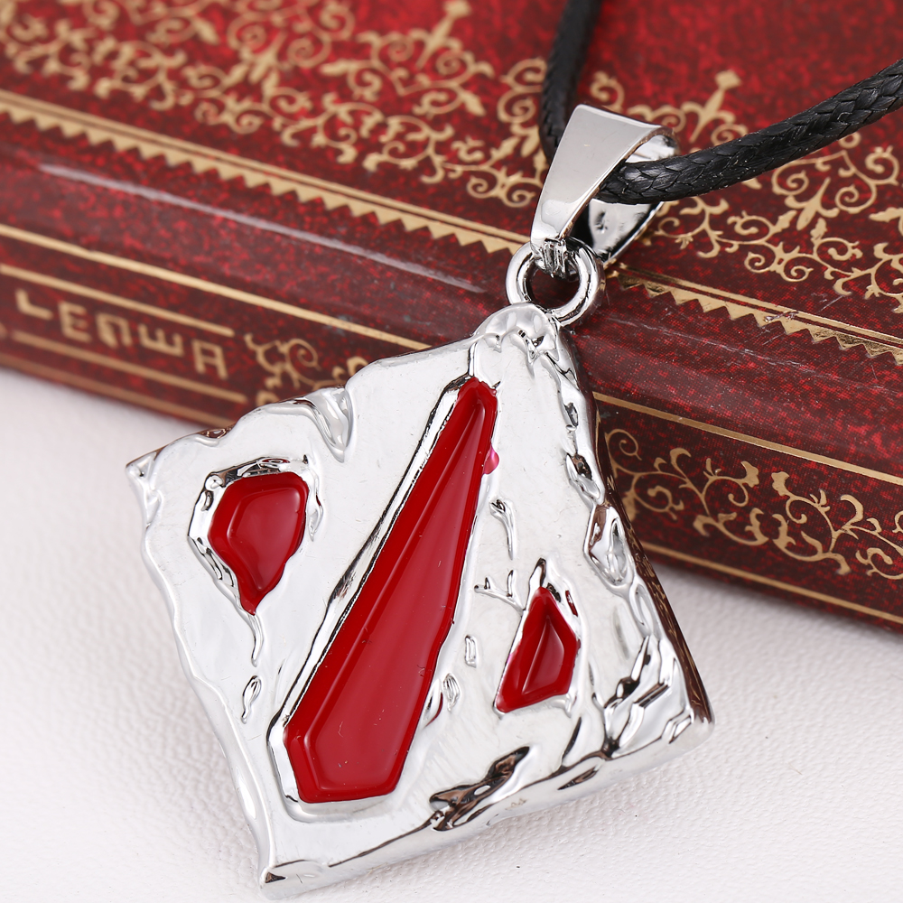 Freeshipping Fashion Online Game DOTA 2 Logo Pendant Necklace Dota2 Silver Colors For Fans Lovers necklace