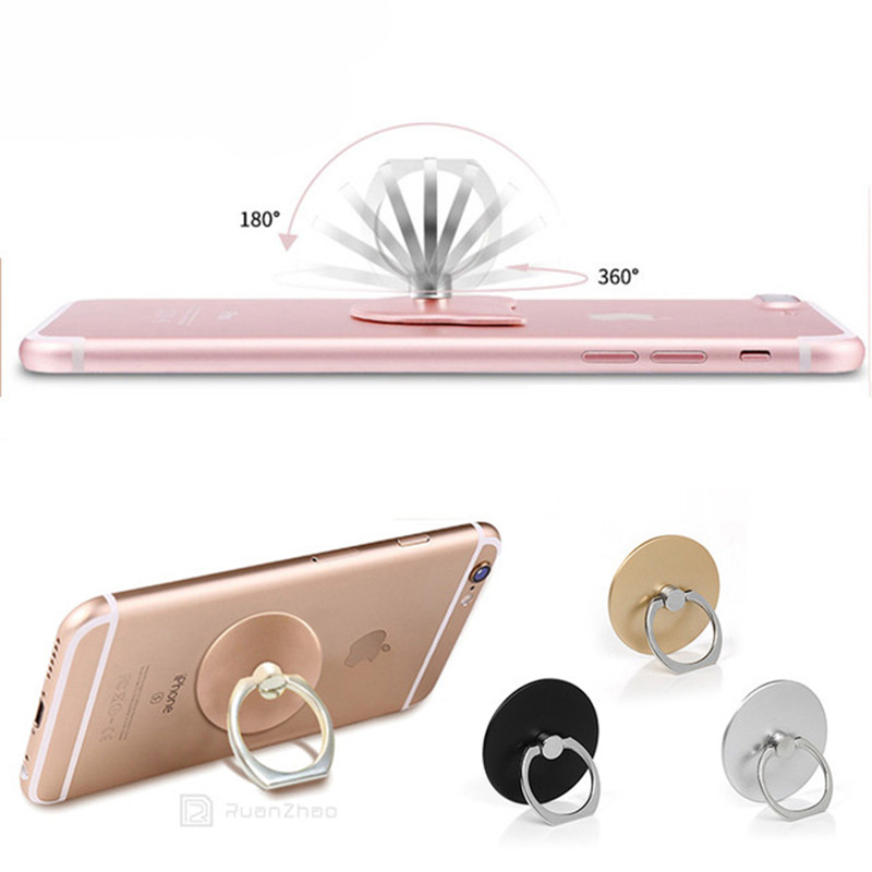 Phone holder 360 Degree Rotatable Finger Ring Bracket Round Lip Stand For iPhone Samsung Xiaomi Cell Phone Universal