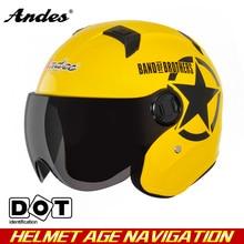 Andes622 Мотоцикл Электрический Велосипед Шлем 4 Seasons Половина Шлемы Мотоцикл шлем Harley шлем