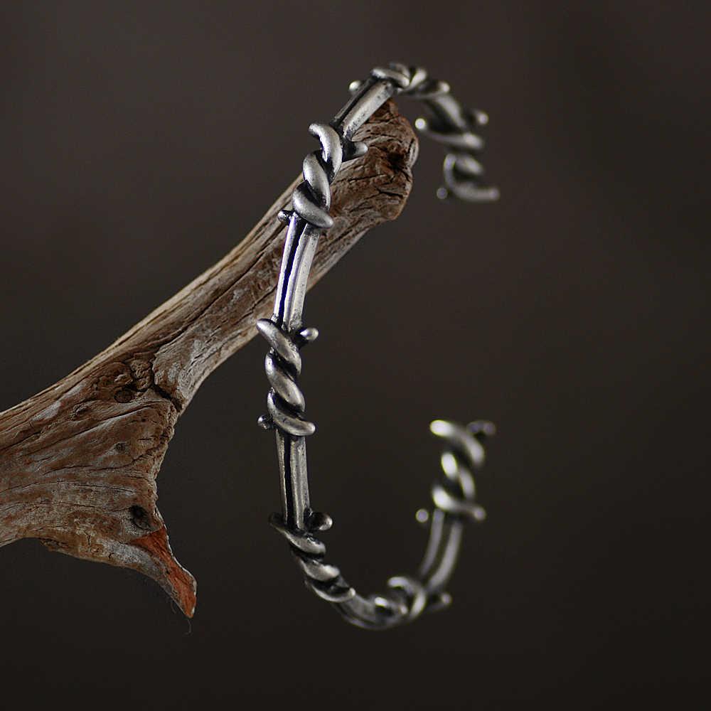 W stylu wikingów tytanu bransoletki ze stali biżuteria akcesoria mężczyźni kobiety Punk romb mankiet bransoletki dla chłopców mężczyzn