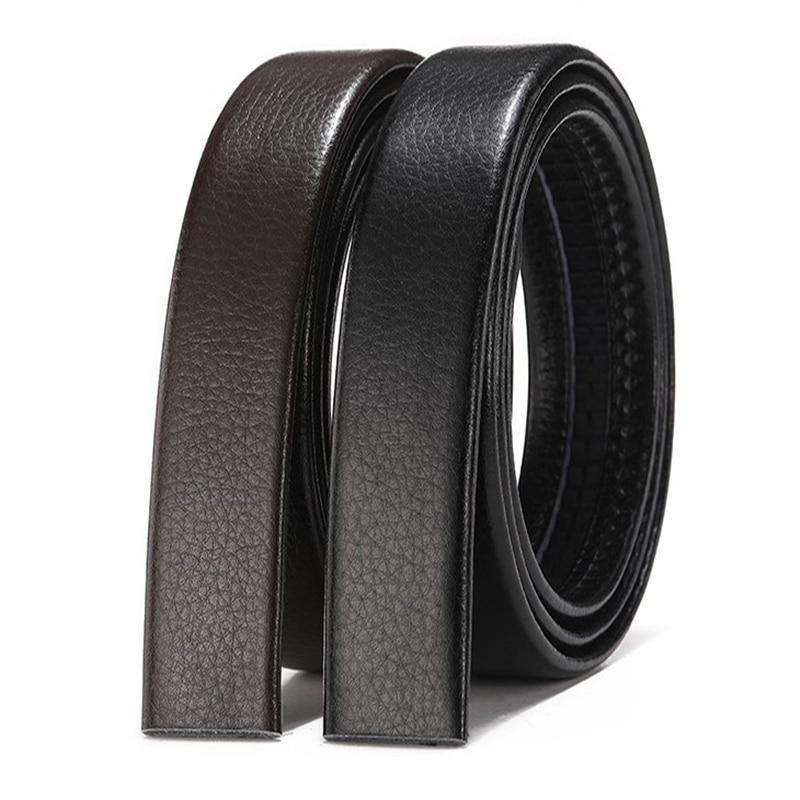 New Men's No Buckle Designer Mens Belts Body 3.5cm Wide Split High Quality Men Automatic Belt Body Kemer Black Coffee