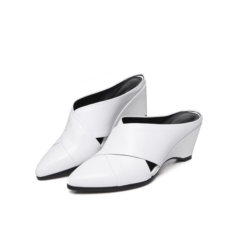 Fashion nero Primavera scarpe pelle donna a Black bianco da alto White Asumer punta basse Autunno Scarpe vera donne tacco in pxqUTwSgE