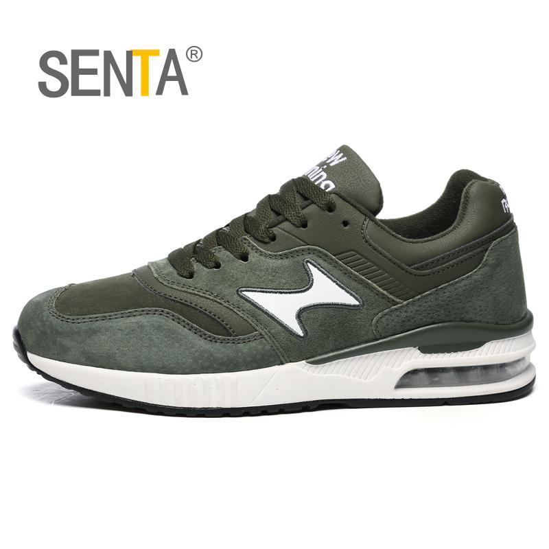 SENTA Genuine Leather Winter MenRuning shoes Women Sneakers Brand Outdoor Unisex Sport Shoes Comfortable walking jogging Shoes