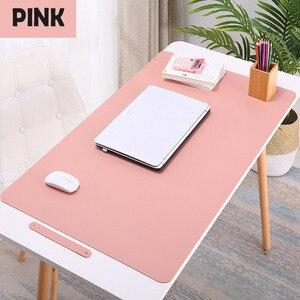 Image 1 - 600X300MM muismat High Quality Large Mouse Pad PU leather Gaming Mousepad Waterproof Antifouling Keyboard Mice Pet mat Desk Pad