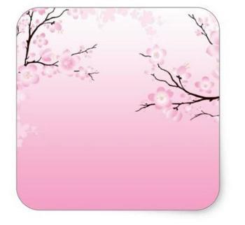 1.5inch Cherry Blossoms Square Sticke 1 фото