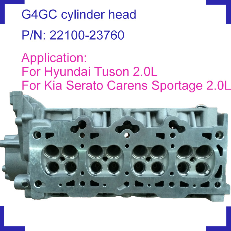 For Hyundai Tuson Kia Carens Cerato Spectra 1975 2.0 cc G4GC Engine bare naked cylinder head 22100 23760 2210023760 22100 23760