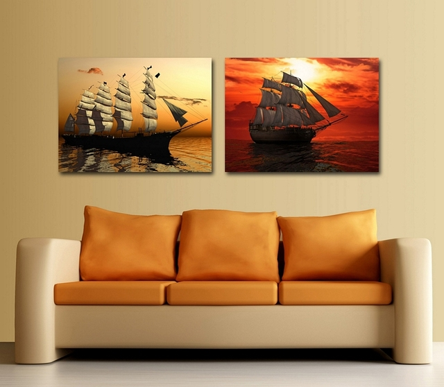 Beautiful Boat Painting Wall Pictures Decoration Home Artwork For Living Room Modern Paintings Gift Firends