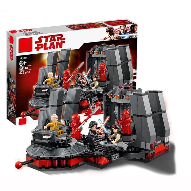 New Star Wars Snoke's Throne Room Compatible Legoing StarWars 75216 Model Building Blocks Bricks Children Toys Christmas Gifts