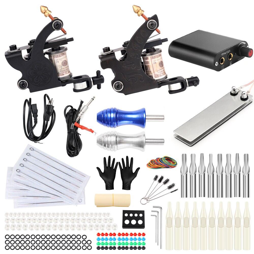 все цены на Stigma Tattoo Complete 2 Coil Tattoo Machine Kit Power Supply Foot Pedal Switch Needles Set TK201-40 онлайн