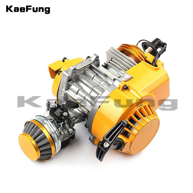 2-stroke 49cc Air-cooling Engine With Irridium C7 Spark Plug, HP Full Circle Crankshaft & Racing Carbutetor/Factory Wholesale