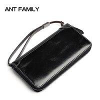 Men Wallets Genuine Leather Wallet Purse Fahion Male Clutch Cowhide Leather Wallets Card Holde Partmone Men Kashelek Male Vallet