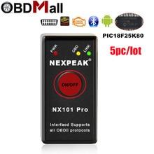Bộ 5 Siêu Mini ELM327 Bluetooth V1.5 Với PIC18F25K80 OBD2 Xe Công Cụ Chẩn Đoán ELM 327 Bluetooth Cho Android và OBDII giao thức