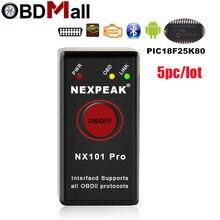 Outil de Diagnostic de voiture Super Mini ELM327 V1.5, Bluetooth 327, OBD2, pour Android et protocole OBDII, 5 pièces