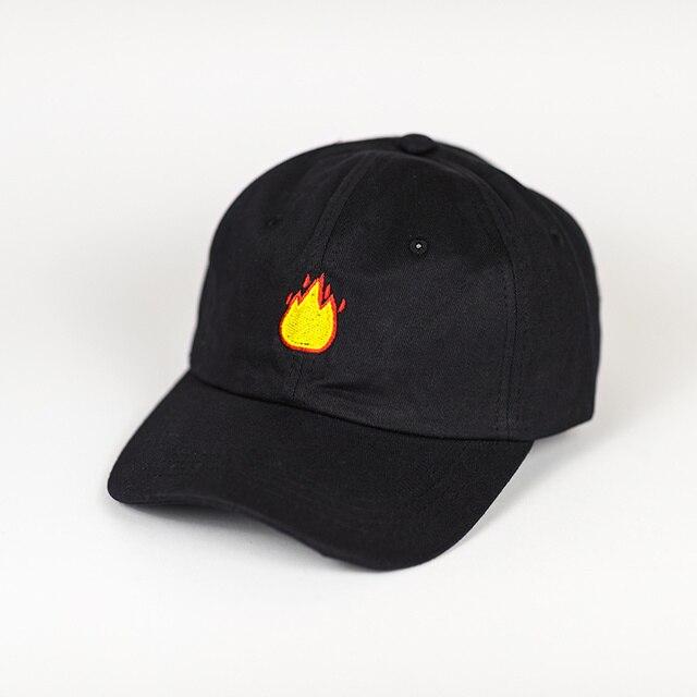 Nueva Marca fuego EMOJI papá sombrero bordado gorra de béisbol curvada 100%  algodón Casquette marca 7112b8bfee0