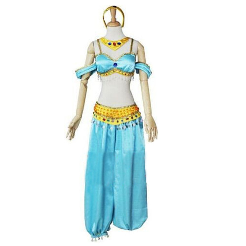 2018 Halloween Sexy Costume Aladdin and The Magic Lamp Princess Jasmine Cosplay Costume Princess Jasmine Costume Adults Принцесса Жасмин