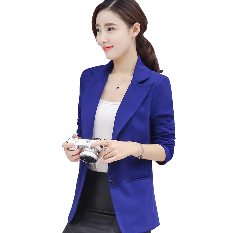 Formal Office Lady Blazers Women Black Blue Slim Long Sleeve Suit Casual Autumn Winter Coats Fashion Work Suits Woman Tops Pz618 Blazers