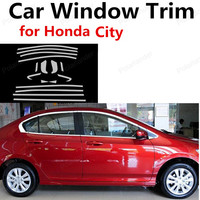 wholesale Car Accessories Stainless Steel For Honda City Decoration Strip without column Car Styling Window Trim