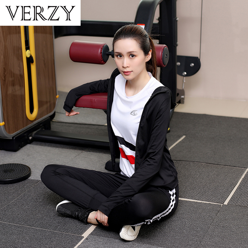 Yoga Set Women Hot Gym Suit Fitness Pants+Sports Bras+Shirts+Jacket 4 Pieces Breathable Jogging Sport Suits Quick Dry Sportswear fitness running sports shirt women yoga sets two pieces breathable suit compression high quality quick drying gym sports suits