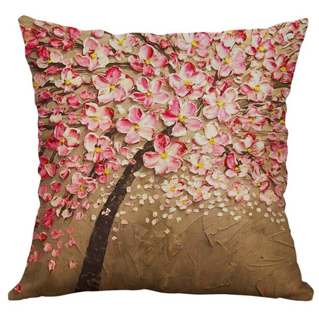 Image 2 - Simple Linen Creative Lovely Pillow Cover Car Pillow Covers Square 45cm*45cm Polyester Pillowcase Home Decorative High Quality-in Cushion Cover from Home & Garden