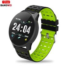 BANGWEI 2019 New Sports watch Blood Pressure Heart Rate Sport Mode Smart Watch Mens Women fitness watches waterproof clock+BOX
