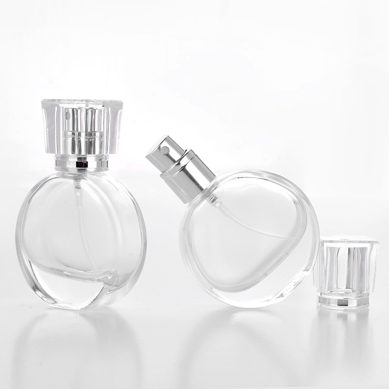 30pcs 30ml Clear Round Glass Perfume Bottle Cosmetic Perfume Packing Spray Bottle Classic Glass Perfume atomizer bottle 100pcs new 2ml clear glass roll on bottle with clear cap