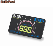 BigBigRoad Car HUD Head Up Display Windscreen Projector OBD2 EUOBD For Toyota Yaris Vios Camry Crown Fortuner SW4 Prius Previa