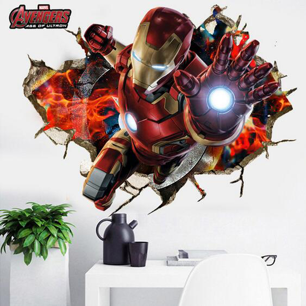 Compare Prices On Avengers 3d Wallpaper Stickers Online Shopping