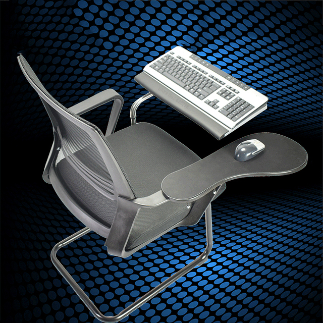 Multifunctional Bow Chair Clamping Tablet PC Holder Keyboard Mouse Pad  Support+Chair Arm Clamping XL