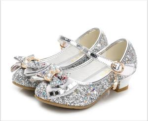 Image 5 - Bloem Kinderen Sandalen Knoop Leren Schoenen Prinses Meisje Schoenen Voor Kinderen Glitter Wedding Party Sandalia Infantil Chaussure Enfant