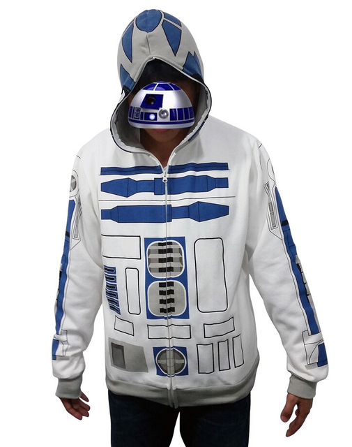 Adult Star Wars Costume Hooded I am R2 D2 R2D2 Casual Jacket Cosplay ...