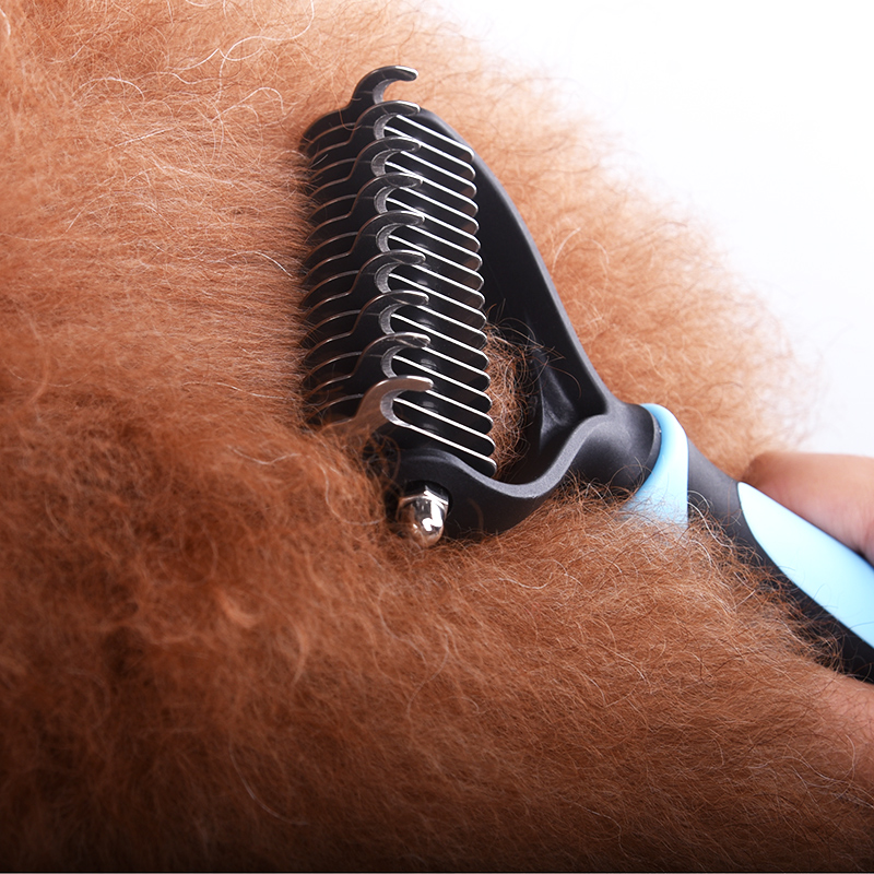 Knotted Hair Remove Comb for Dogs Cat Slicker Detangler Trimming Dematting Shedding Brush Grooming Tool For Long Hair Curly Pet