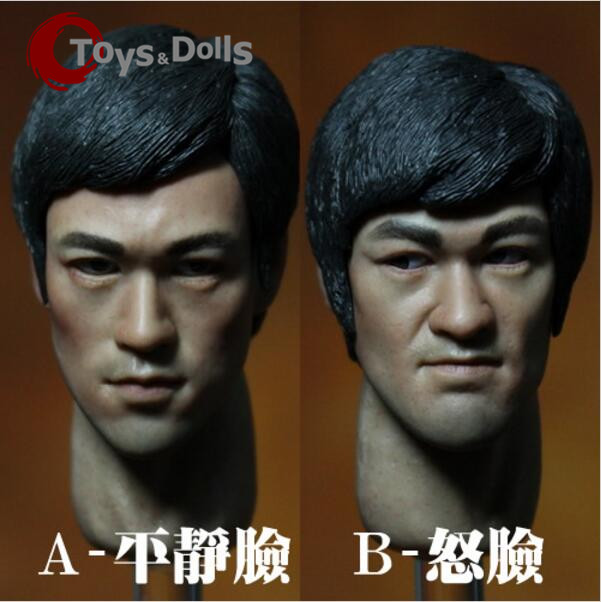 1/6 Determine Equipment Kung Fu Star Bruce Lee Head Sculpt Male Headplay Head Carving Mannequin F 12″ HT Motion Determine Doll Physique Toys