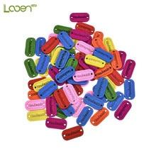 100 Pcs DIY Letter Wooden Sewing Buttons 2 Holes Mix Colors Button For Children Clothes Decorative Scrapbooking Accessory