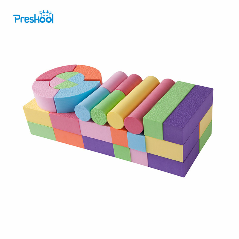 52 Pcs Baby Toys Building Blocks Eva Foam Non-Toxic Non-Recycled Quality for Children Soft Color Bright Brinquedos Juguets
