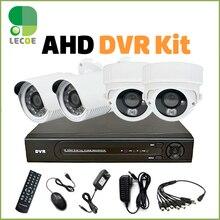 4CH HD AHD-DVR КОМПЛЕКТ 2 ШТ. Открытый 2 ШТ. Крытый 2000TVL Ночного Видения 720 P CCTV AHD 1.0MP Камеры Безопасности система