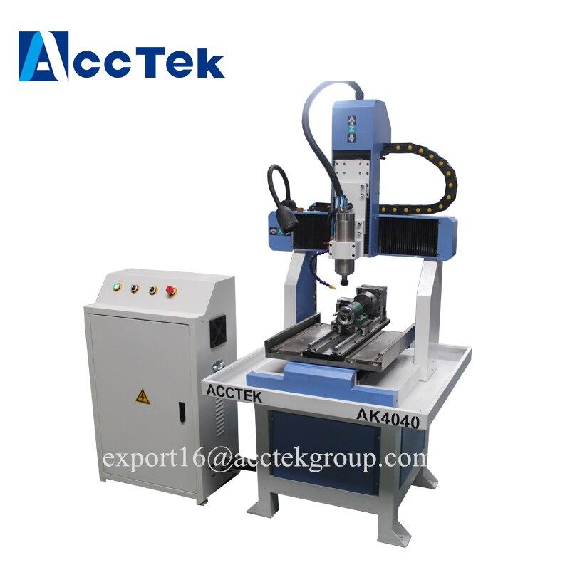 Small cnc router milling engraving cutting machine for aluminum brass steel metal stone mini / AccTek hot sale cnc laser machine