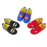 2019 novos meninos macios sapatos spiderman superman batman tênis de corrida sapatos esportivos crianças casuais apartamentos crianças mocassins criativo quente Tênis     -