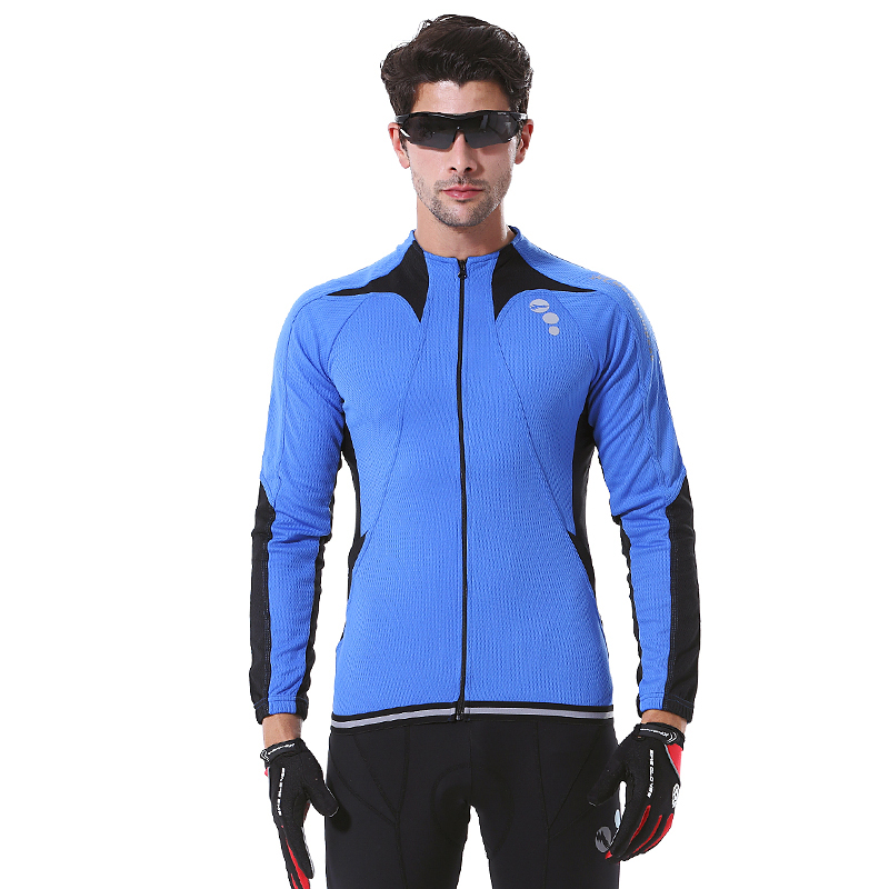 2017 Autumn Cycling Jersey Suits Sets Long Sleeve Men Riding Coat jackets Warm Windproof cycling clothing coolmax breathable
