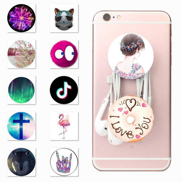new arrivals cc428 b094b US $0.84 |Lazy Pop Socket Finger Ring Holder PopSocket Beautiful Girl Donut  Personality Mobile Phone Back Case Cover for iPhone Xiaomi-in Mobile Phone  ...