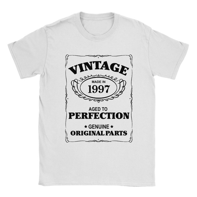 Print Casual T Shirt Men Brand 21st Birthday Born In 1997 Mens Present Gift Aged To Perfection
