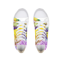 Platform Sneakers Flora Flower Rainbow Color Vulcanized Shoe Women Canvas Zapatos Dama Chaussures Femme Zapatos De Mujer