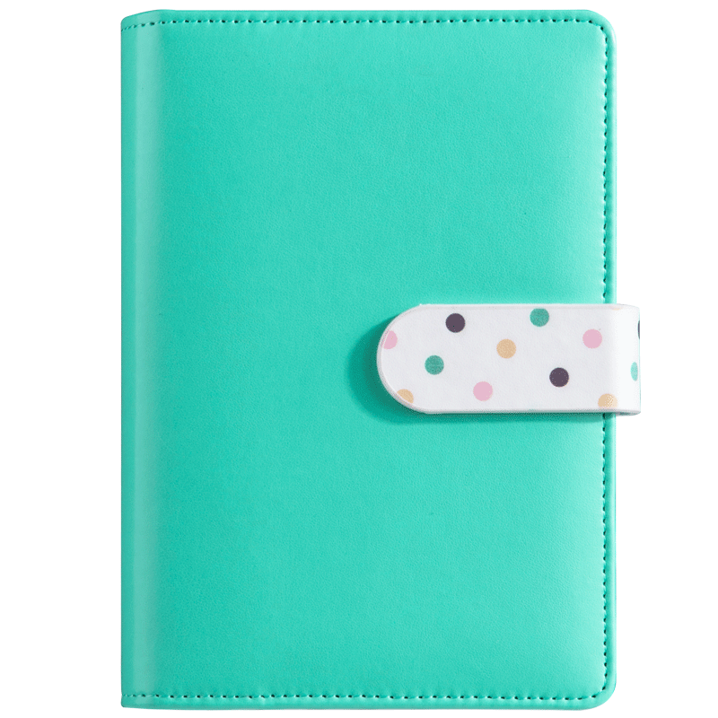 New arrival A6 PU leather notebook cute office and school supplies notebook Korean Japanese kawaii school supplies stationery hardcover notebook cute 128 sheets magnet buckle faux leather wallet a6 planner school supplies papelaria office stationery