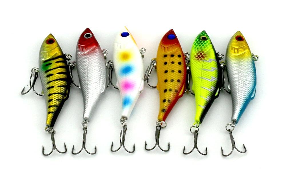 6 copë 8cm-11.8g Peshkim i fortë plastike VIB Lures Tingëllim - Peshkimi - Foto 6