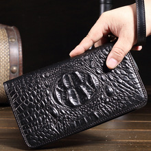 Vintage Men s Women s Genuine Leather Wallets Male Retro Alligator Cowhide Clutch Man Real Leather