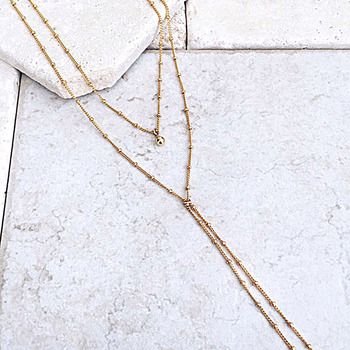 Sexy Beads Chain Lariat Choker Necklaces Long multilayer Water Drop Simple party kolye Statement Jewelry for Women collier femme 1