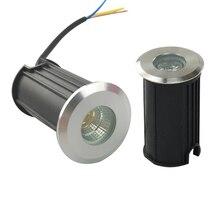 10 шт. светодиодный подземный светильник 1 Вт 3 Вт 5 Вт COB напольный светильник для улицы наземное пятно ландшафтный сад квадратная дорожка похороненный двор 85-265 в DC12V