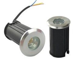 10 sztuk LED światło podziemne 1W 3W 5W COB lampa podłogowa teren zewnętrzny Spot pejzaż z ogrodem plac ścieżka pochowany stoczni 85-265V DC12V