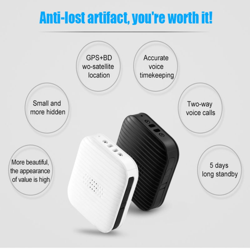 Precise GPS Pet Tracking Device Locator A18 support GPS LBS Tracking With Google Maps Alarm GPS for children cats dogs elderly