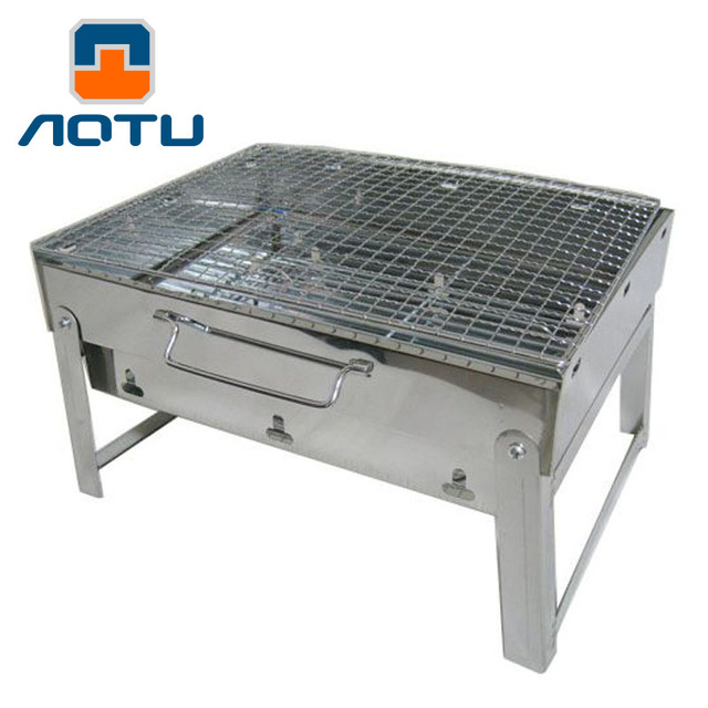 Large Stainless Steel Light Weight Folding Outdoor Barbecue Stove Camping  Fishing Hiking BBQ Grill Backpacking BBQ