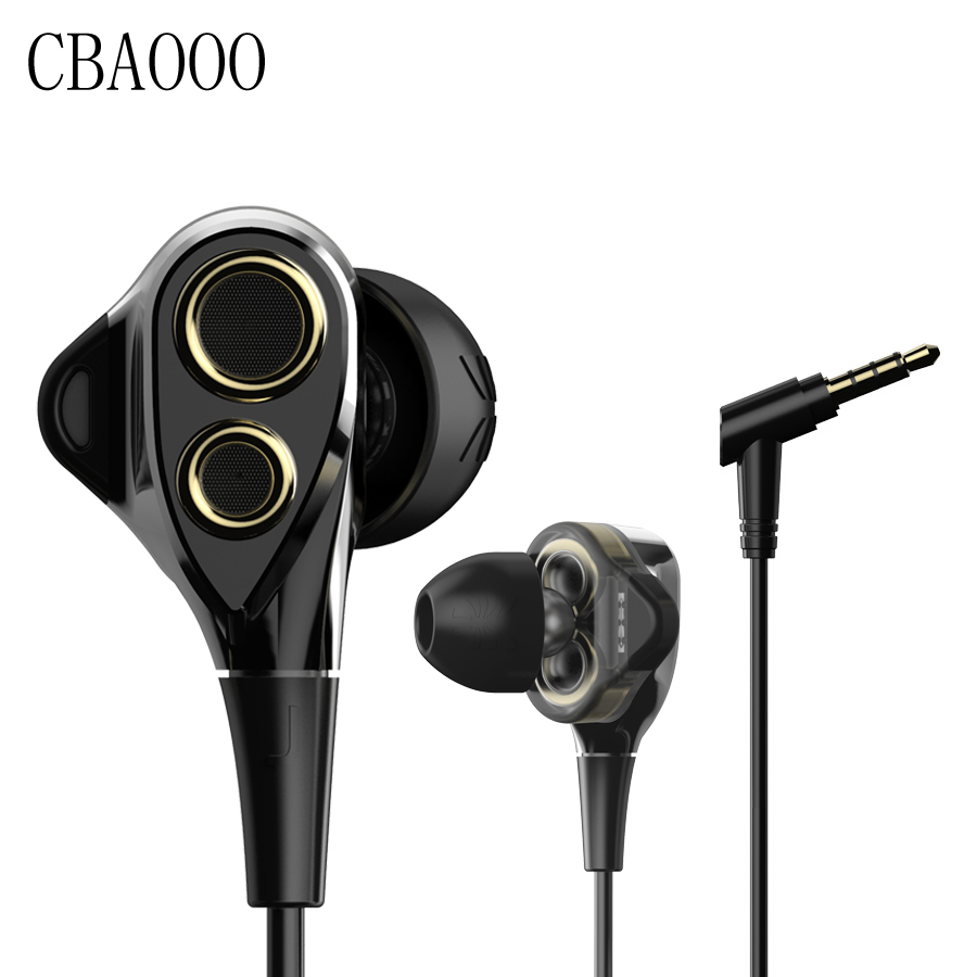 In-Ear Earphone HiFi Stereo super bass Wired Earphone Noise Isolating Earbuds with Mic For iphone Xiaomi Android  dhl free 2pcs black white m6 pro universal 3 5mm wired in ear earphone noise isolating musician monitors brand new headphones